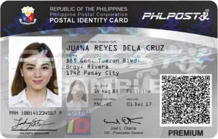 new postal id