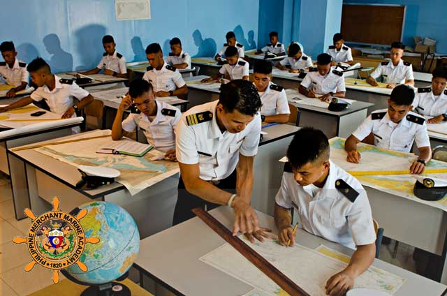 pmma cadets in the classroom