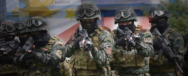 PNP SAF Troopers in full battle gear.