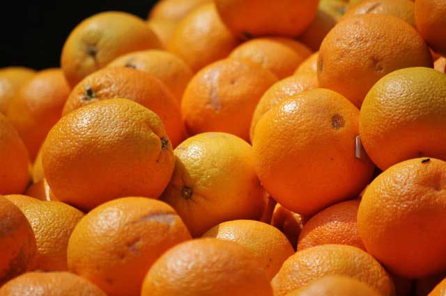 oranges and other citrus are rich in vitamin c which is good for the brain.
