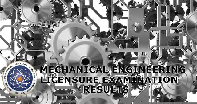 mechanical engineer board exam results