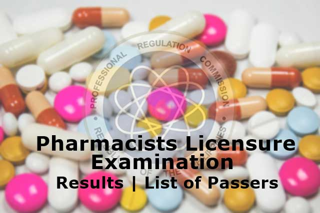 pharmacists licensure exam results