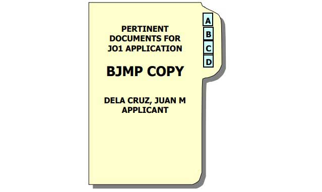 sample application letter for bjmp