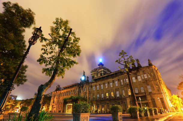 The UST campus at night