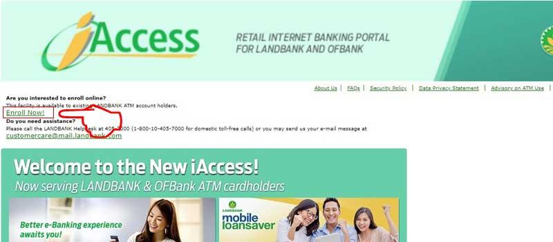 landbank iaccess landing page