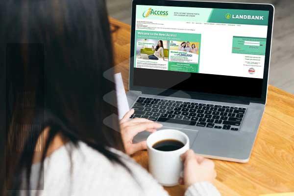 woman using landbank iaccess portal