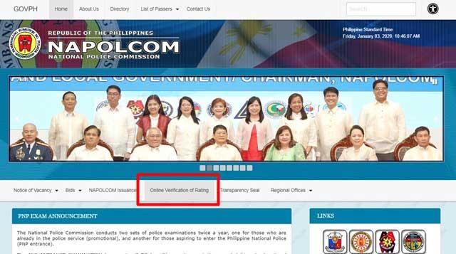 NAPOLCOM main Page