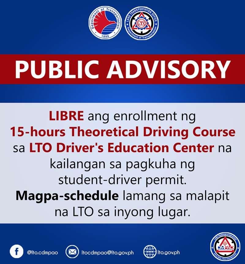 LTO public advisory