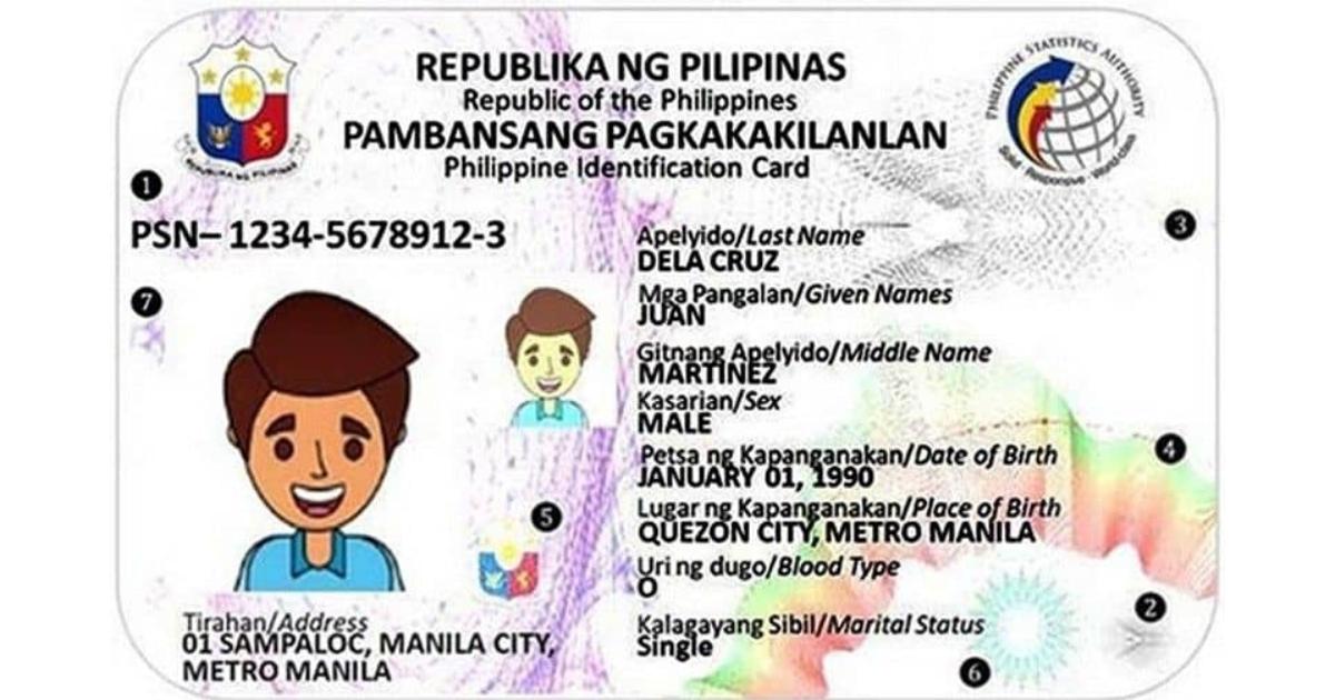 Philsys ID sample