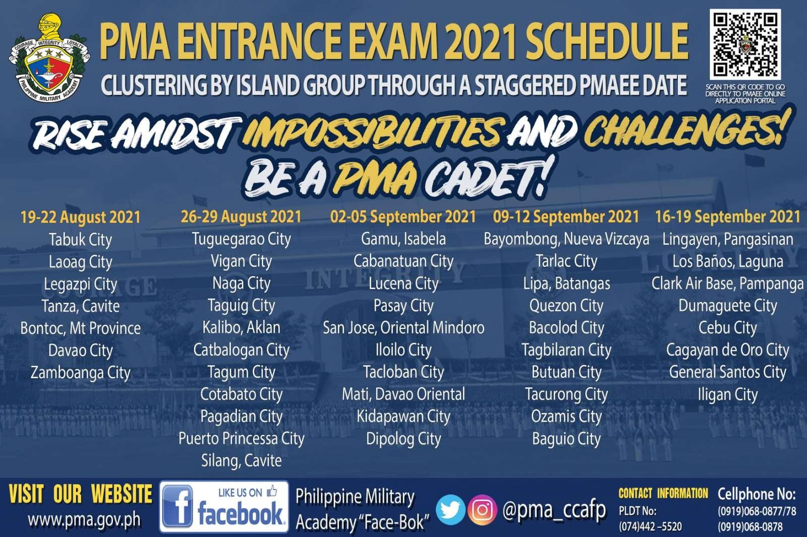 PMAEE 2021 schedule