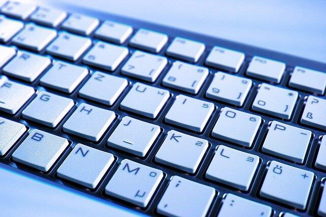 white keyboard to write enye